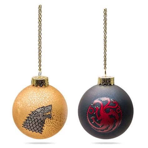 game of thrones christmas ornaments yes please