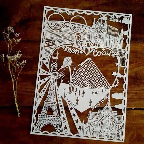 Custom City Paper Cut   Miss Bespoke Papercuts