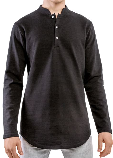 Sleeve Henley sleeve henley black entity