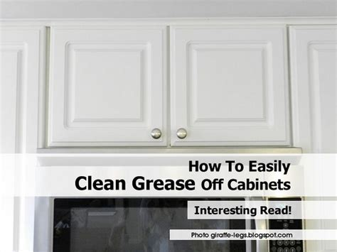 how to easily clean grease cabinets