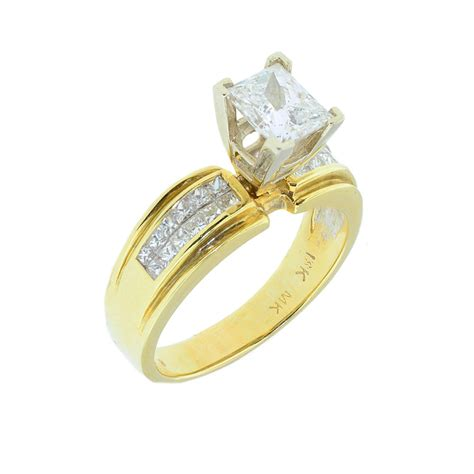 gold engagement rings for princess cut hd fashion