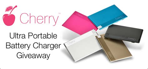 Charger Giveaway - win a cherry ultra portable charger giveaway holycool net