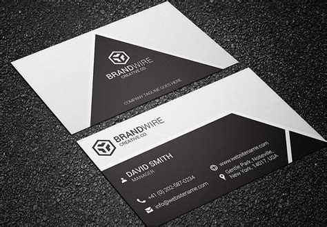black white business card bundle graphic pick
