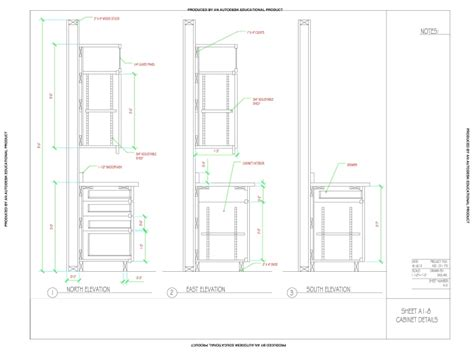Kitchen Cabinets Details | cad detail drawing of kitchen cabinets by dashawn wilson