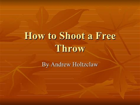 how to shoo your couch how to shoot a free throw