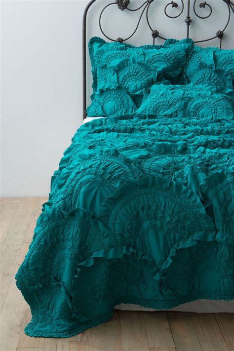 Anthropologie Rivulets Quilt by Teal Quilt Anthropologie Turquoise Teal