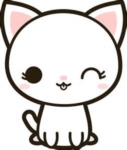 quot kawaii white cat quot stickers by peppermintpopuk redbubble
