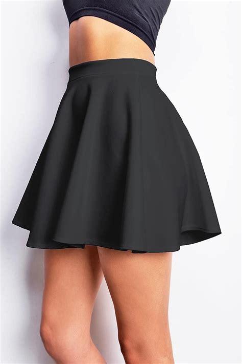 Mercer Black Skater Flared Dress Flared Scuba Skirt Scubas Skater Skirt And Washing