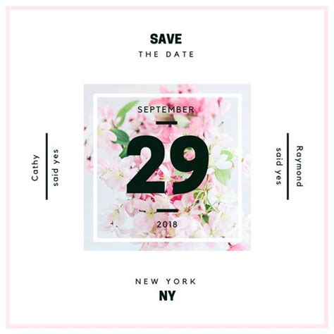 Customize 4 985 Save The Date Invitation Templates Online Canva Save The Date Indesign Template