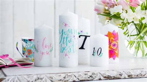 how to decorate candles with diy transfers