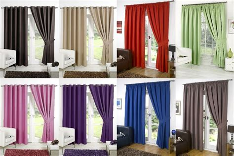 supersoft thermal blackout curtains bedroom curtain black silver purple beige ebay