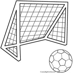 soccer ball soccer net coloring father