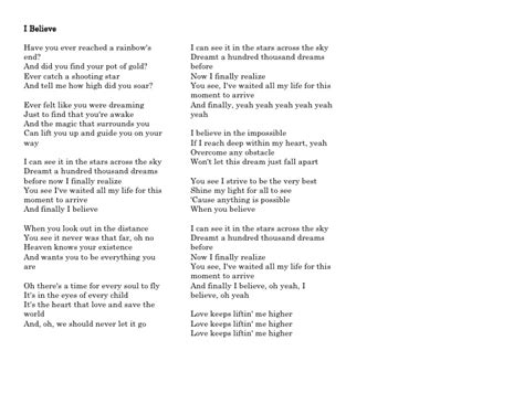 i believe i can fly testo lyrics