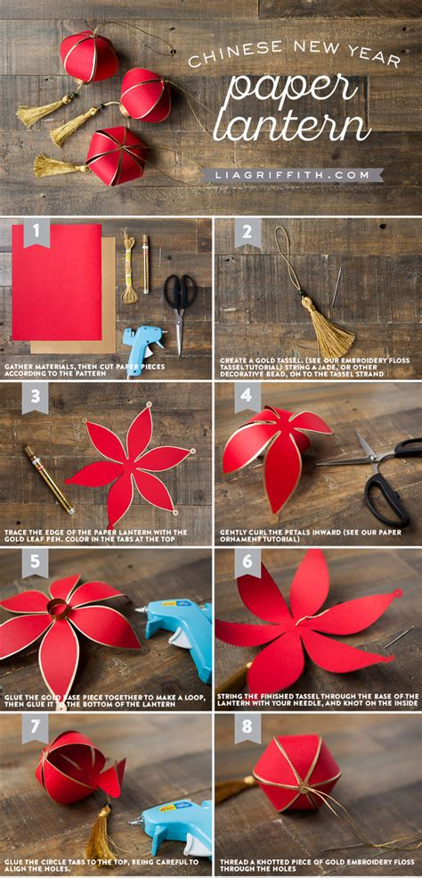 Paper Craft Lanterns - diy new year paper lantern lia griffith