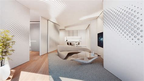 designboom office interior the art of living space by zaha hadid legatto lifestyle