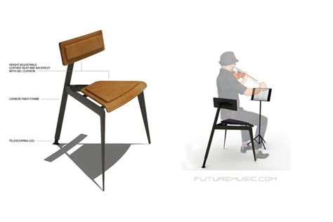 Musicians Chair by New High Tech Concept Chair Design For Musicians Debuts