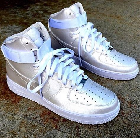 Light Pink Nikes Custom Air Force Ones High