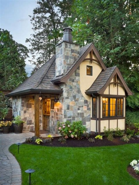 Little Cottage Home Decor | i want a stone cottage with a small horse barn when i