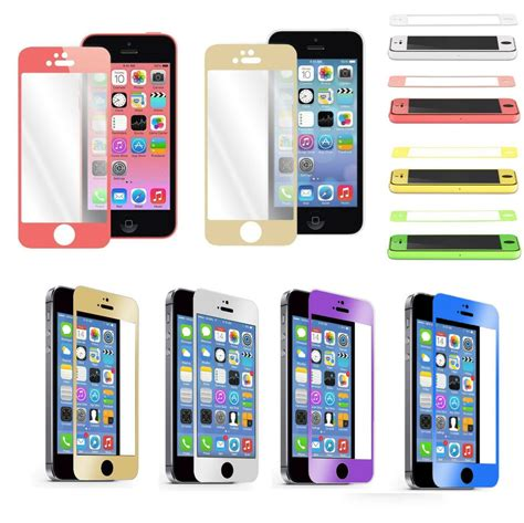 colorful real tempered glass film screen protector