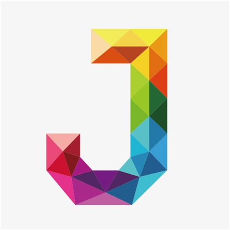 color con j colorful letters j letter j colorful png image and