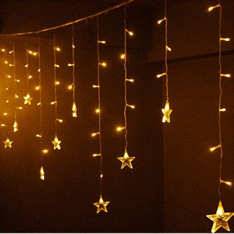 fairy curtain lights led copper wire string lights star fairy light curtain