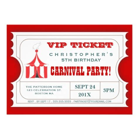 ticket birthday invitation template circus ticket free images at clker vector clip
