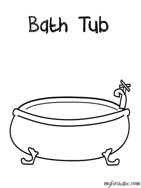 coloring page bathtub bath tub coloring page my first abc