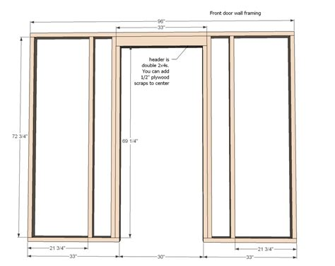 How To Build Door Frame simple measure for building a door frame in diagram