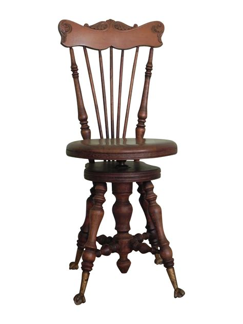 Piano Stool With Back high back piano stool chairish