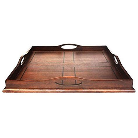 large wooden serving tray for ottoman large trays for ottoman amazon com