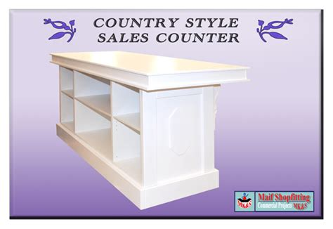 Counter Sales Country Style Sales Shop Reception Counter