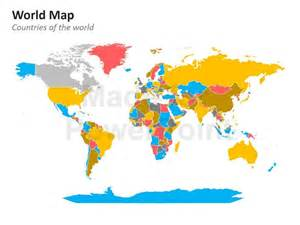 World Map Template For Powerpoint by World Map Editable Powerpoint Maps