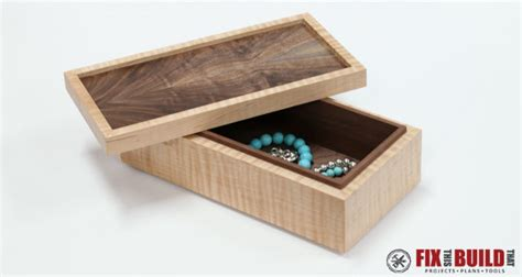 simple wooden jewelry box fixthisbuildthat
