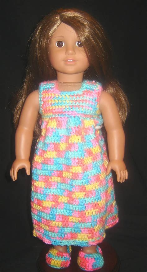 crochet pattern doll clothes bizzy crochet nightie robe slippers 18 quot doll clothes