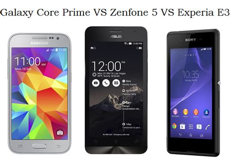 Samsung Galaxy J1 Vs Zenfone 5 samsung galaxy prime vs asus zenfone 5 vs sony xperia e3 which one would you buy