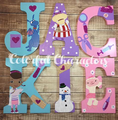 doc mcstuffins room decor doc mcstuffins wall letters room decor by colorfulcharacters