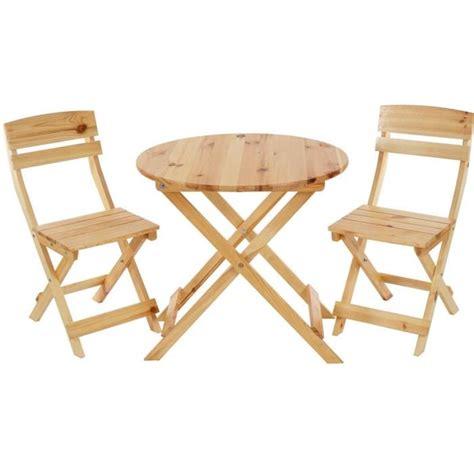 ensemble de jardin avec table ronde et 2 chaises pliantes