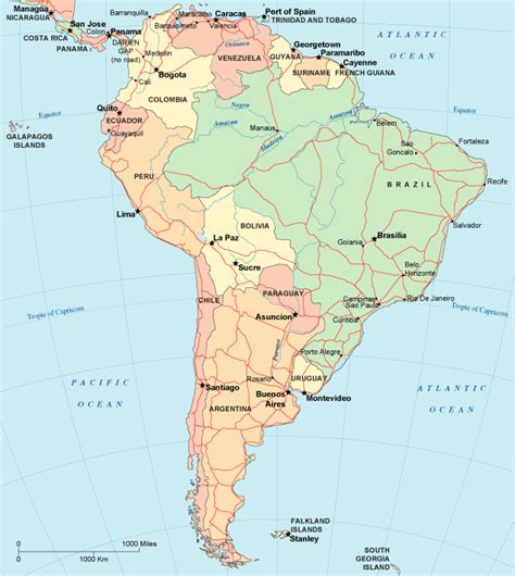 map south america map of south america south america maps and geography
