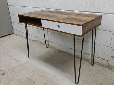 industrial hairpin leg desk wooden pallet desk hairpin legs 101 pallets