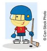 portiere gioco clip vettoriale di hockey ragazzo portiere gioco