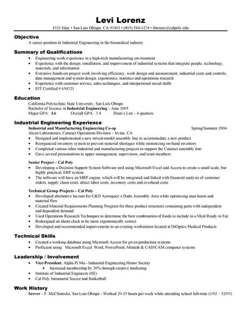effective resume format for engineers engineering college student resume exles 4 resumes