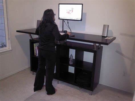 stand up desk hack from ikea parts my style ikea