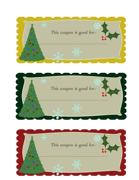 christmas printable voucher templates editable christmas coupon template search results