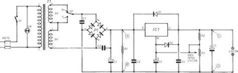 progetto alimentatore stabilizzato alimentatore variabile circuito elettrico dell