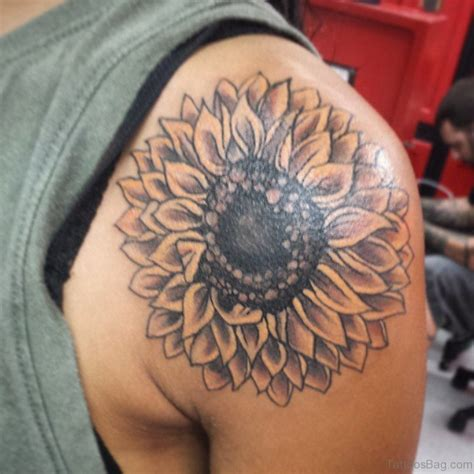 simple sunflower tattoo 71 stunning sunflower tattoos on shoulder