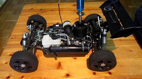 Ferngesteuerte Benzin Autos Carson by Rc Verbrenner Starten 1 8 Buggy Youtube