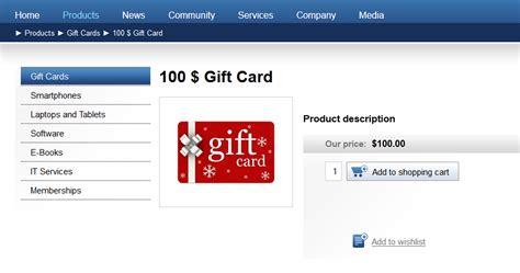 Type Of Gift Cards - gift card product type