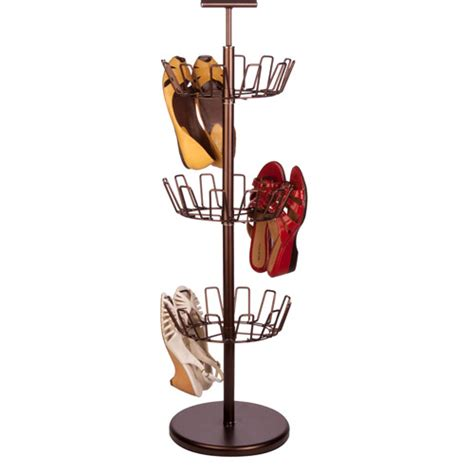 shoe tree storage honey can do 3 tier bronze shoe tree walmart