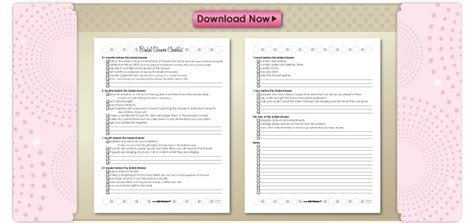 printable bridal shower list 6 best images of bridal shower checklist template