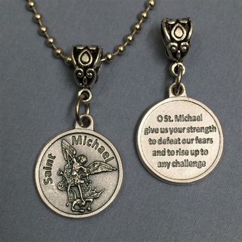 st michael archangel protection medal pendant with